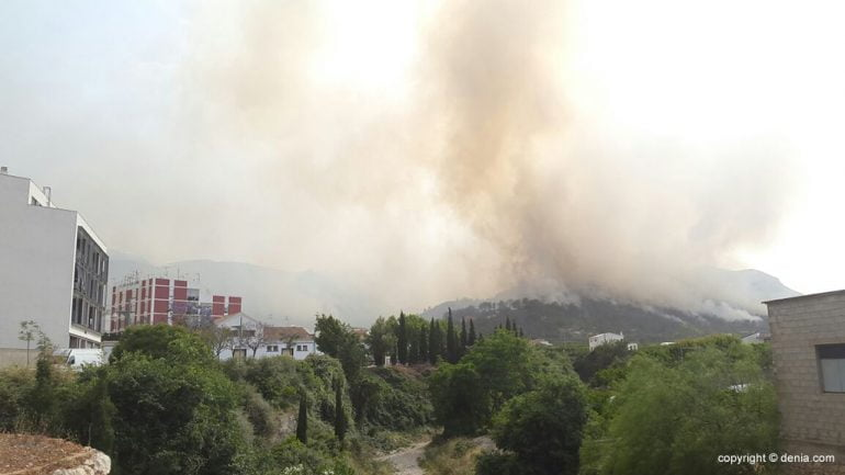 Fire in Vall d`Ebo
