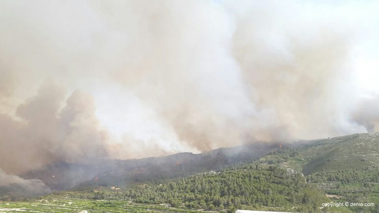 Fire on Mount Ebo Vall
