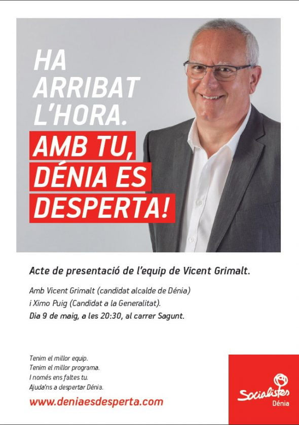Presentación Candidatura Socialistas de Dénia