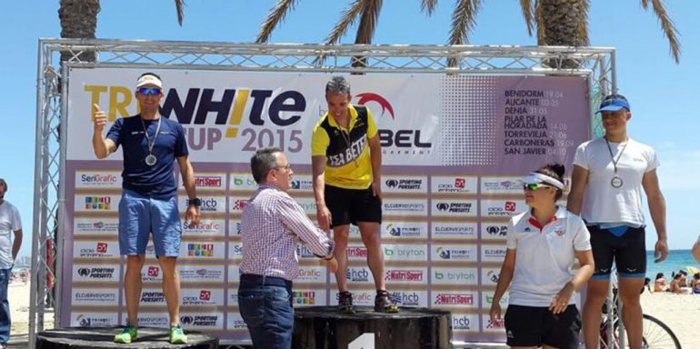 Sergio Alberola in Alicante triathlon podium