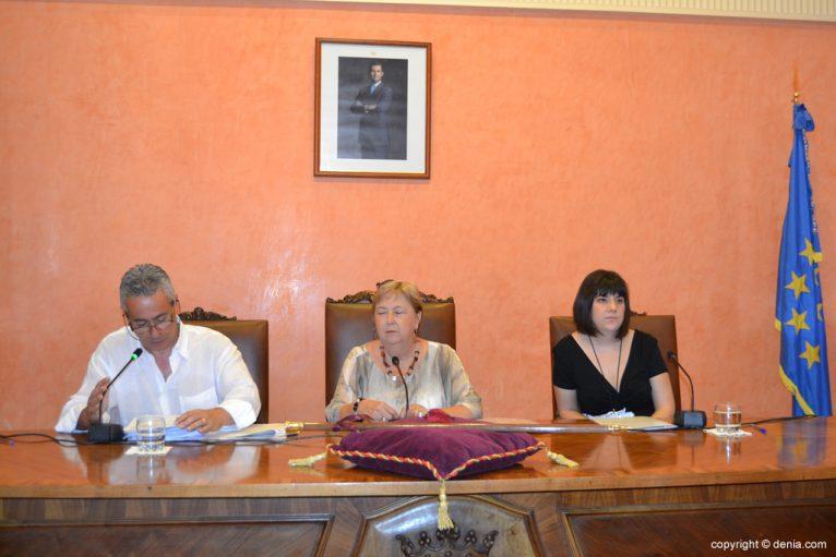 Investidura de Vicent Grimalt como nuevo alcalde de Dénia - Mesa de edad