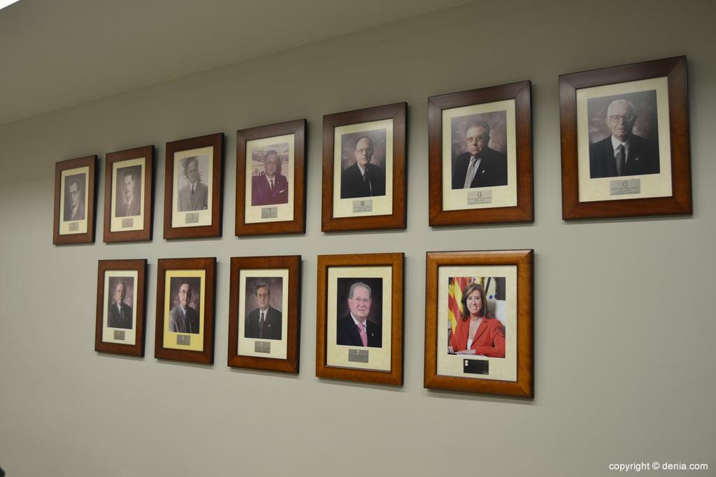Fotos de antiguos alcaldes de Dénia