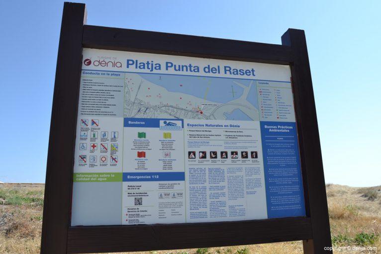 Datos de la playa Punta del Raset