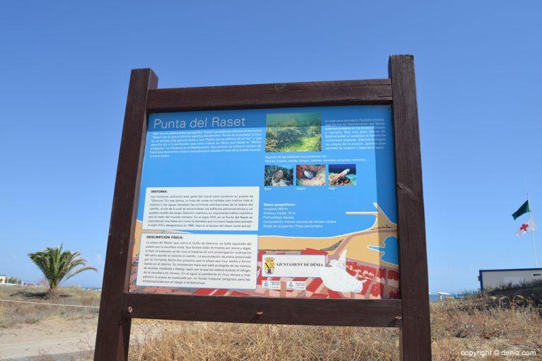 Información sobre la playa Punta del Raset de Dénia