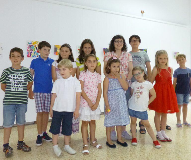 Los jóvenes artistas del colegio Maristas