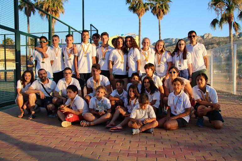 Nadadores del Centro Deportivo Aqualia