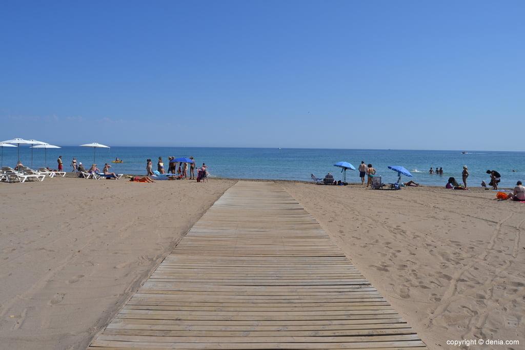gateway di accesso alla spiaggia di Denia Cagarritar