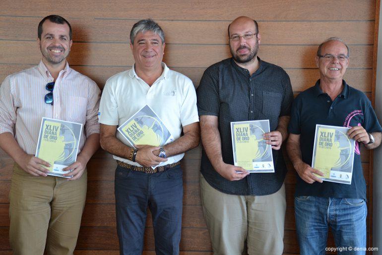 Portolés, Crespo, Calatayud y Vidal en la presentación de la Diana de Oro.