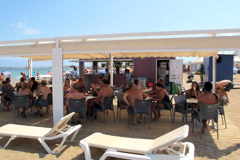 Chiringuito de la playa Punta del Raset
