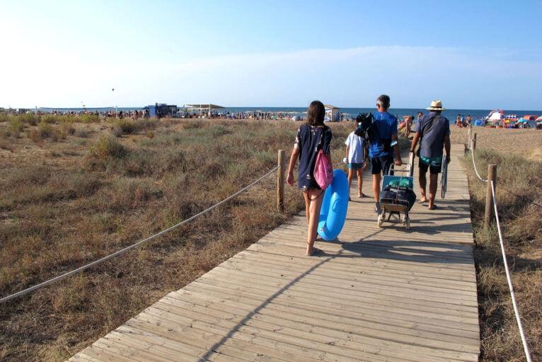 Delimitación en Punta del Raset