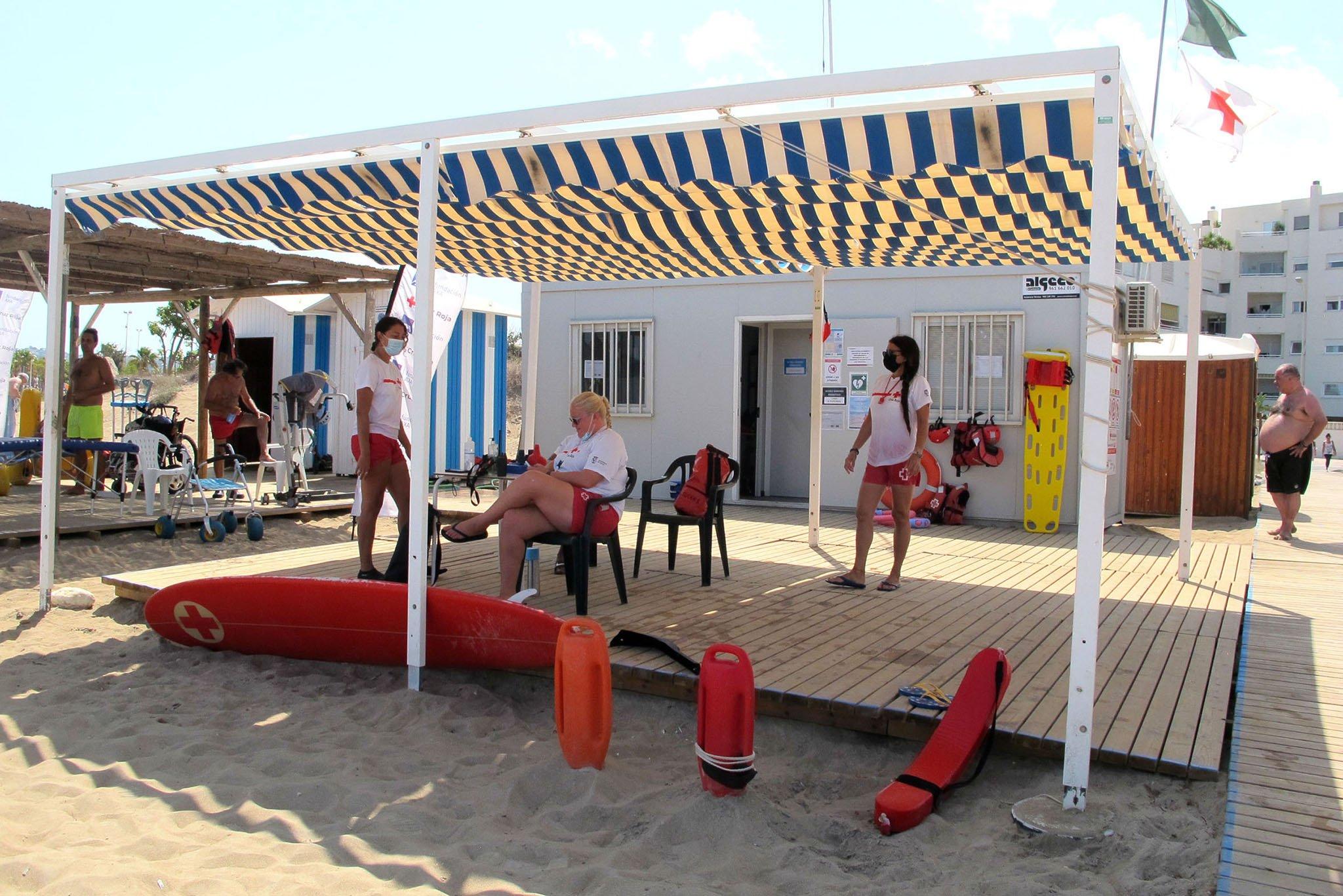 Puesto de socorristas de la playa Punta del Raset