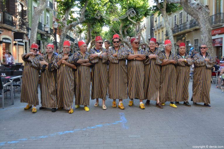 Dénia parties - Entraeta of Moors and Christians - Amiries