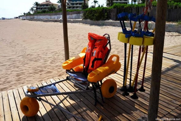 Accessibility to the beaches of Dénia