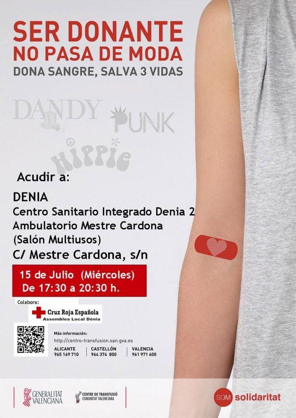 Cartel de donación de sangre