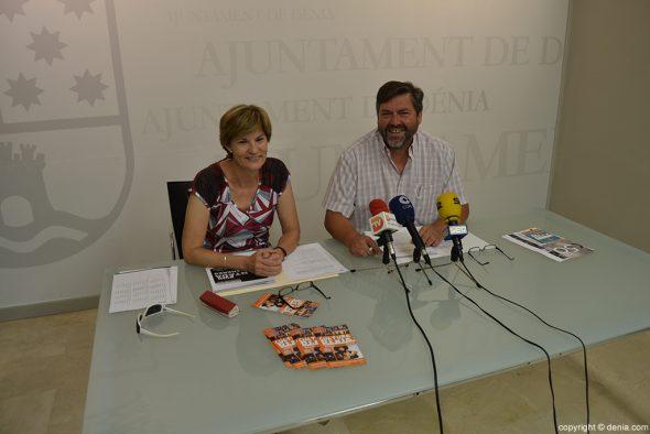 Rafa Carrió i Maribel Font, rueda de prensa agenda culural