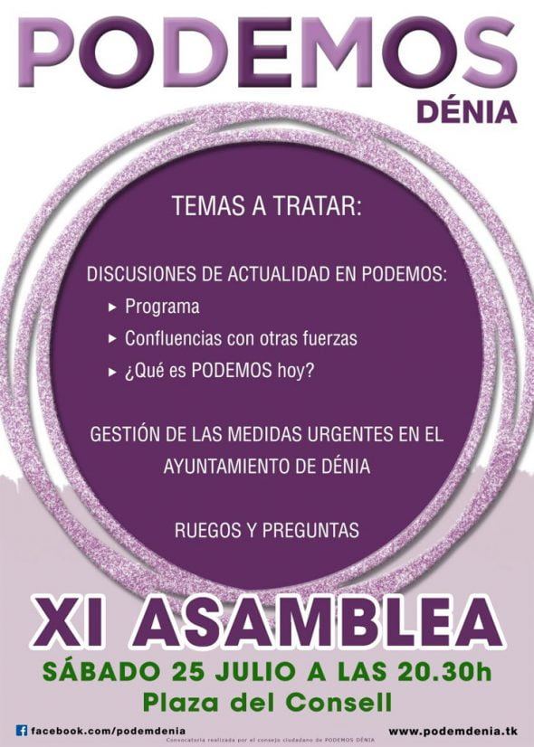 XI Assembly can Dénia