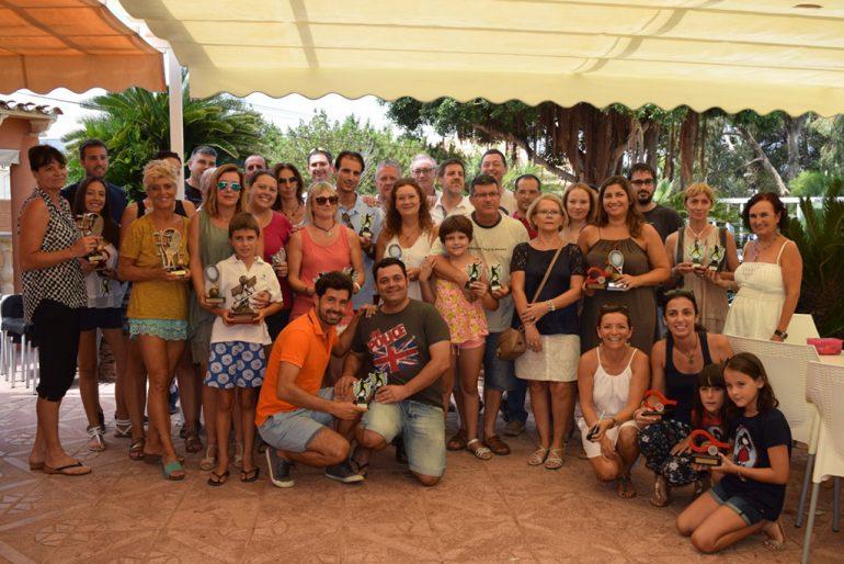 Participants at the awards ceremony of the IV Memorial Juan Periañez CT Dénia
