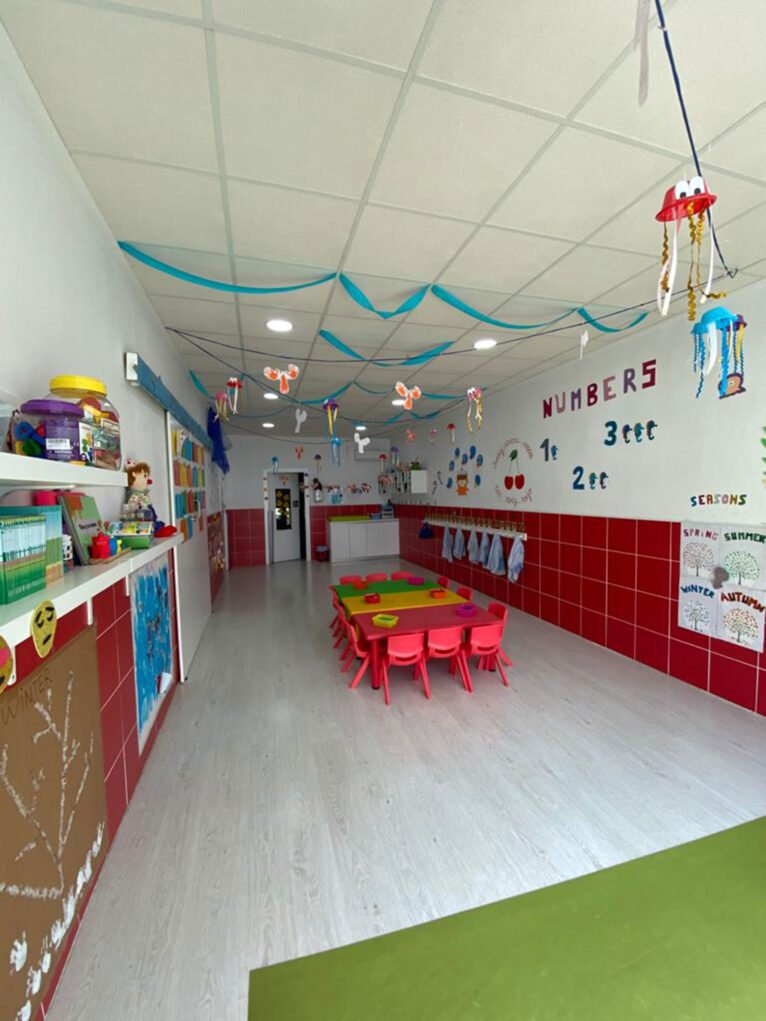 Red classroom at CEI Bombonets