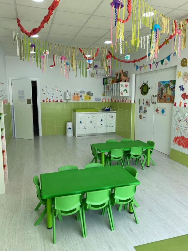 Green classroom at CEI Bombonets