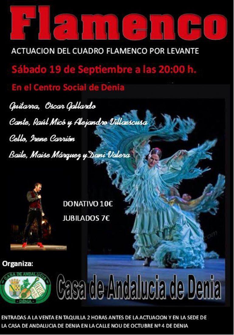 cartel espectáculo flamenco