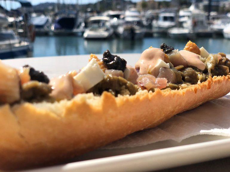 Tosta de berenjena Restaurante Balandros