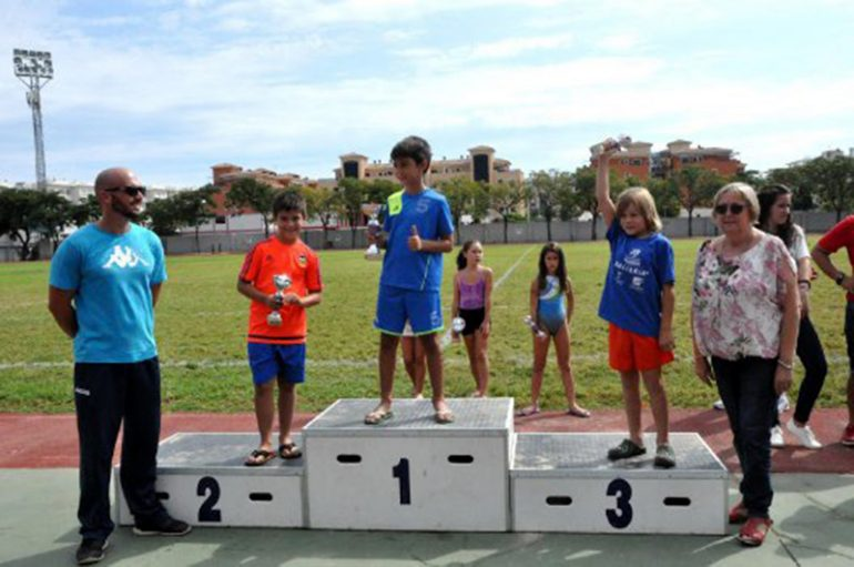 Aquathlon prizegiving of Denia