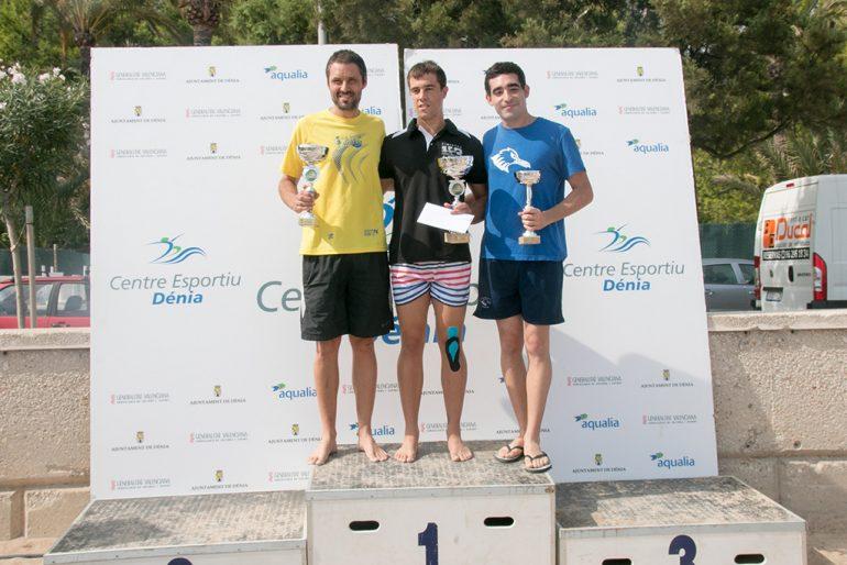 Javier Garrido con Javi Cabanilles y Alejandro Lopéz