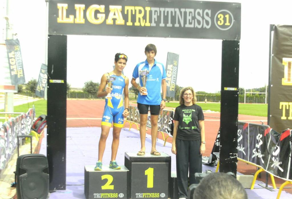 Nacho Calabuig en el podium de Alzira