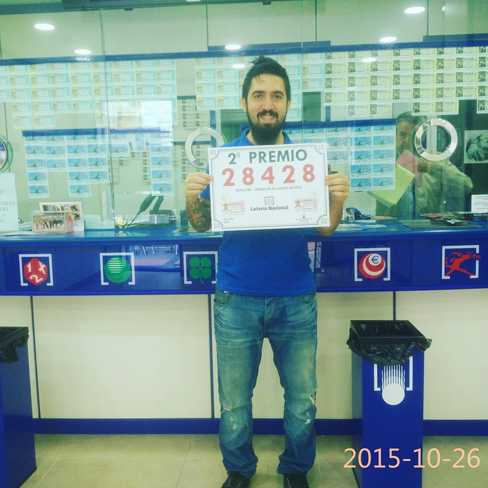 2º Award from the National Lottery sold in Dénia