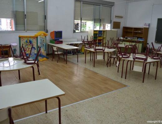 Aula para alumnos de dos años en el colegio Cervantes