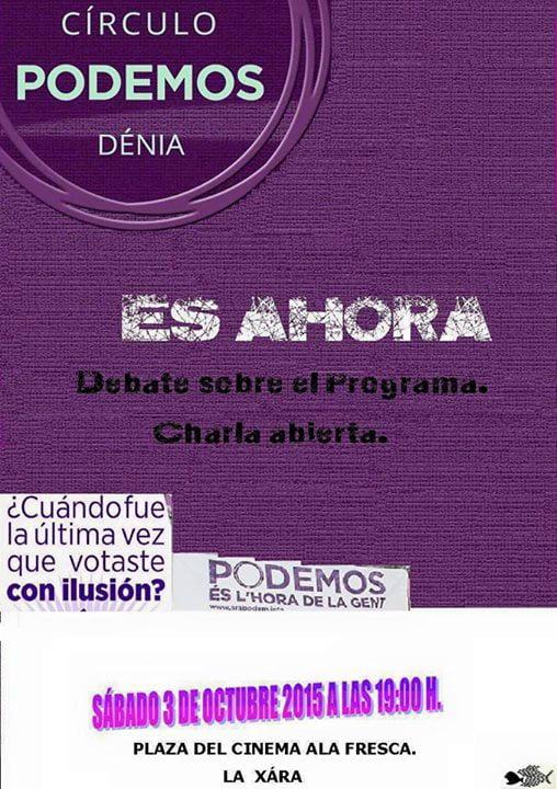 Charla-debate de Podem en La Xara