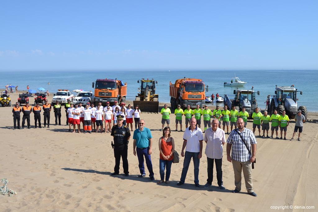 Efectivos de vigilancia de las playas de Dénia