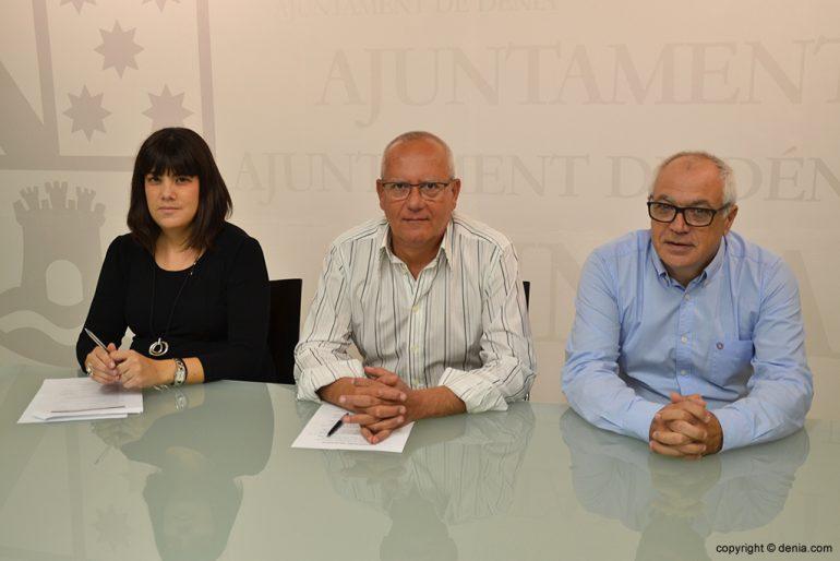Grimalt with Tamarit and Perez