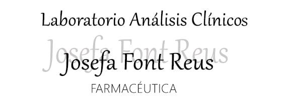Laboratory Josefa Font