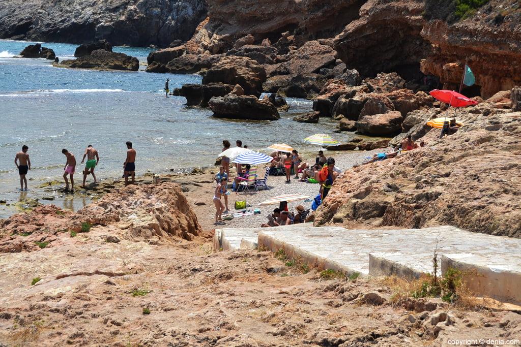 Playa final de Les Rotes