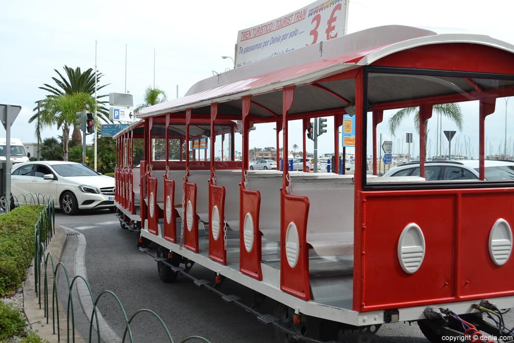 Vagones del trenet turístico de Dénia