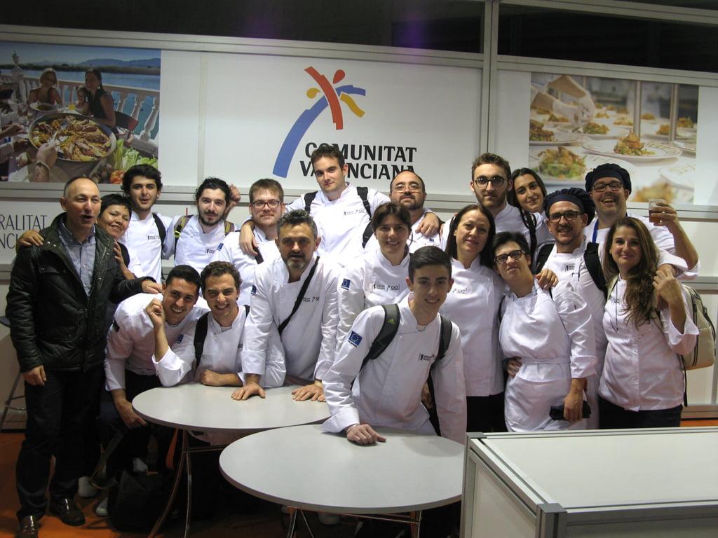 Alumnos del CDT de Dénia en la feria Gastrónoma de Valencia