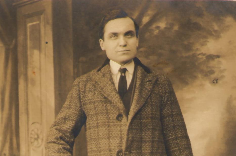 Aquilino Barrachina, alcalde republicano de Pego, cuando vivía en Nueva York
