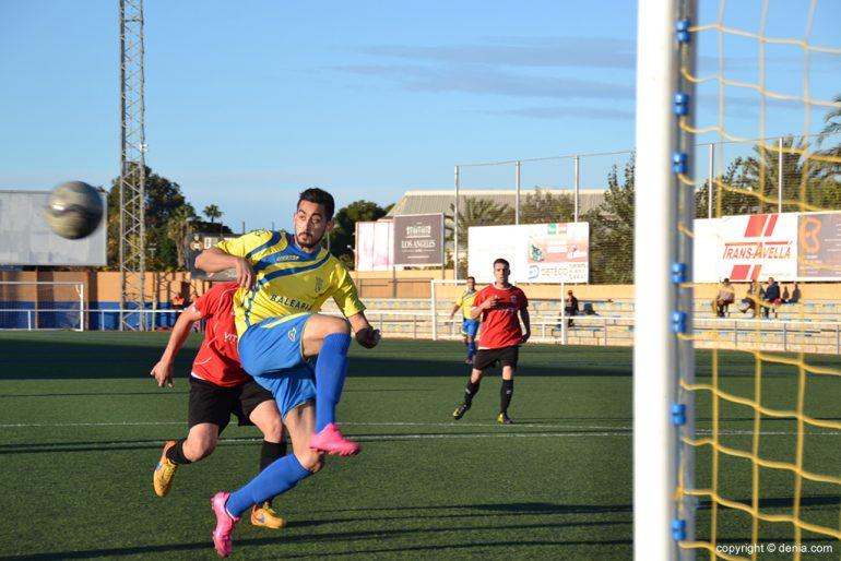 Borja Martínez marcando el primer gol