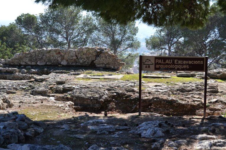 Castell de Dénia - excavaciones arqueológicas en el Palau
