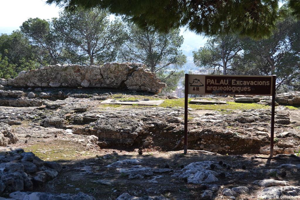 Castell de Dénia - excavacions arqueològiques al Palau