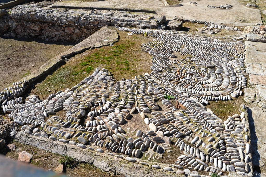 Castell de Dénia - Mosaic de Palau
