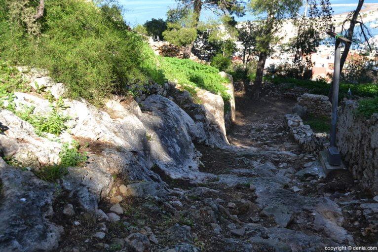 Castillo de Dénia - acceso al Verger de Baix