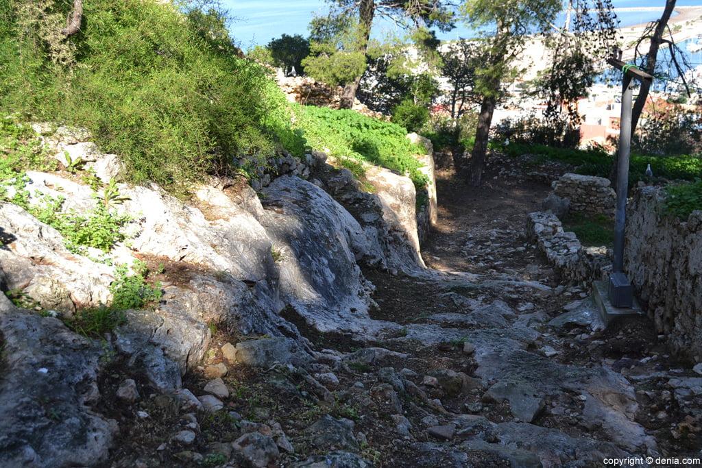 Castillo de Dénia – acceso al Verger de Baix
