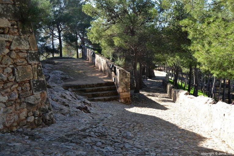 Castillo de Dénia - camino