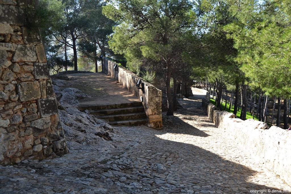 Castell de Dénia - camí