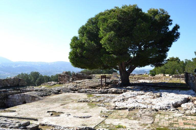 Castillo de Dénia - excavaciones arqueológicas en el Palau