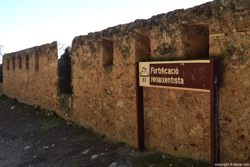 Castell de Dénia - fortificació renaixentista