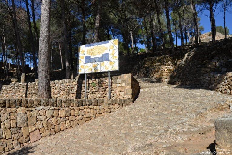 Castillo de Dénia - plano