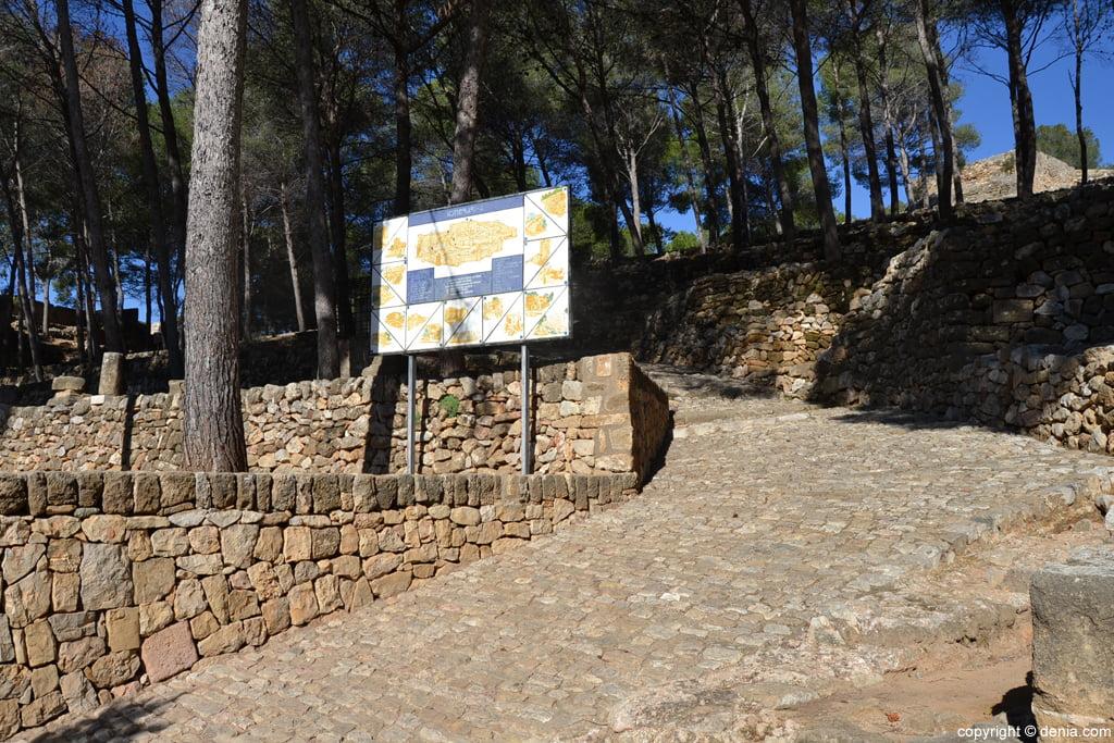 Castillo de Dénia – plano